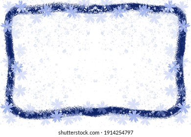 Message card for winter snow scene