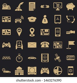 Message icons set. Simple style of 36 message icons for web for any design