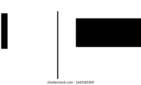 Messed squares design. Abstract graphic silhouettes. White background with black geometric shapes.