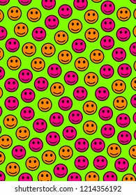 Messenger backdrop. Chaotic pattern. Throng with comic moods.