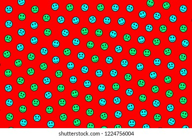 Messenger decoration. Geometric backdrounds. Throng composed of random moods.