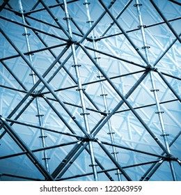 metal abstract structure ; scaffolding on  construction site