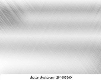 Metal background of brushed steel plate with reflections Iron plate