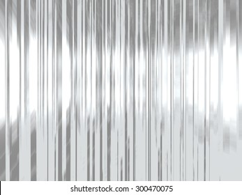 Metal background with parallel lines with reflected light.