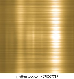 Metal background or texture of brushed gold  plate