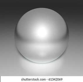 Metal chrome sphere, 3d