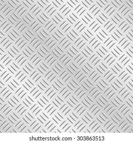 Metal diamond chequer plate. Tileable wallpaper background that repeats left, right, up and down
