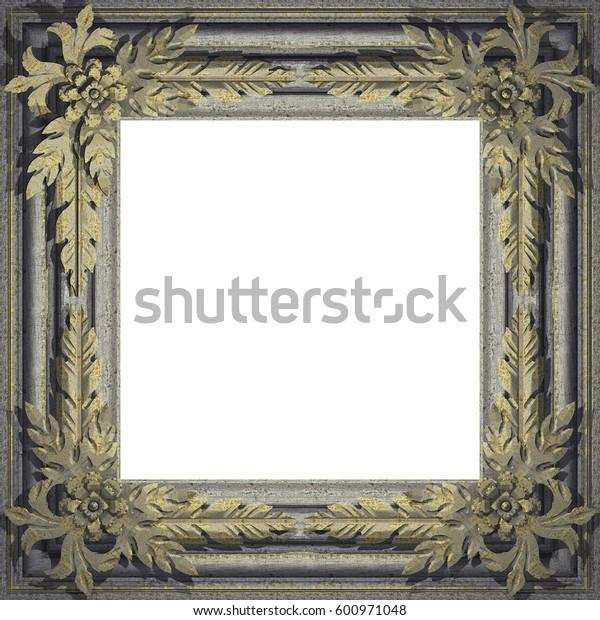 Metal Frame. 3D rendering. Textures or background.
