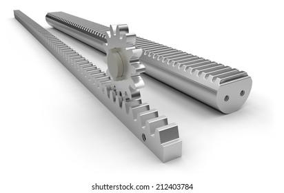 https www shutterstock com image illustration metal gear racks pinion 212403784