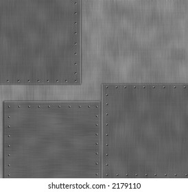 Metal Panels, design element with rivets.