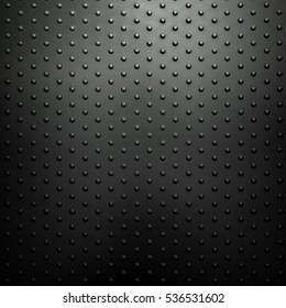 metal plate with dot design background