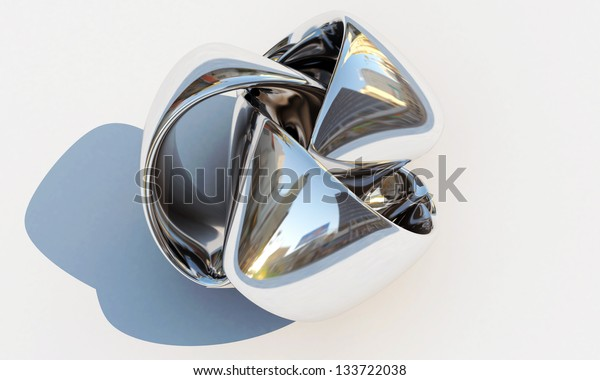 metal ribbon isolated on white background