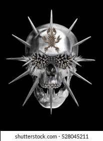 Metal Skull Sketch Graphic Design