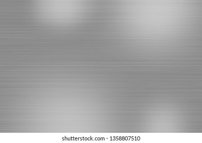 Metal stainless steel texture background with reflection