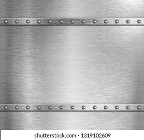 Metal steel background with rivets 3d illustration