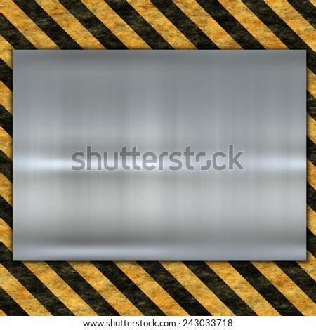 Royalty Free Stock Illustration of Metal Template Danger Sign Stock