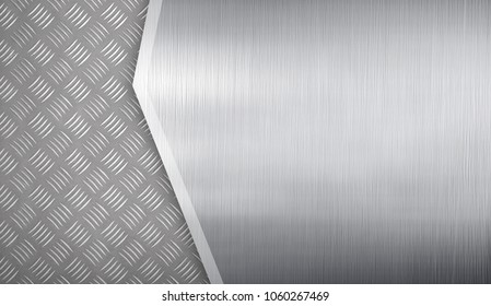 metal template with diamond plate background
