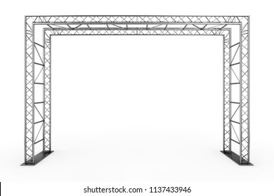 Metal Truss Construction on a white background. 3d Rendering