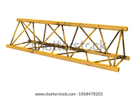 Metal Truss Girder Element 3 D Render Stock Illustration 1068478205