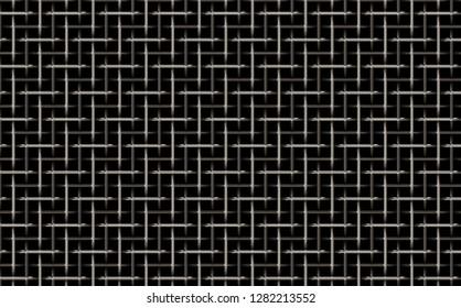metal weave 3d illustration 45x28cm 300dpi
