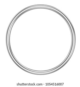 Metall ring isolated on white background - 3D rendering