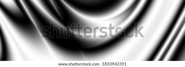 Metallic background abstract monochrome fluid pattern
