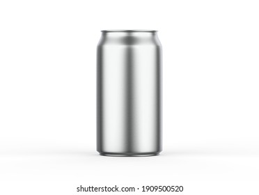 Metallic can mockup for beer, alcohol, juice, energy drink and soda, aluminium metal can mock up on isolated white background, 3d illustration