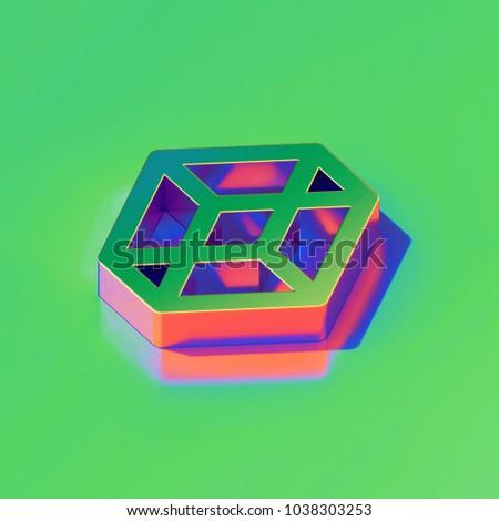 Metallic Codepen Icon On Candy Style Stock Illustration - Royalty