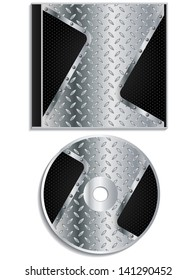 Metallic disc and cover design with black dots