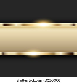 Metallic gold banner with text space illustration