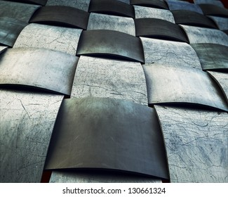 A metallic  grid, dramatic, vintage background