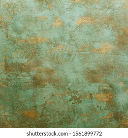 Metallic grunge background with an aged patina