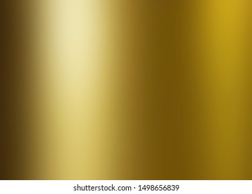 metallic polished glossy abstract background, gold foil texture background with copy space,  metal gradient template for gold border, frame, ribbon design