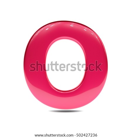 Royalty Free Stock Illustration Of Metallic Red Paint Letter O