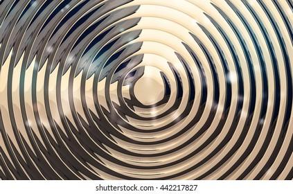 metallic spiral background glossy illustration 3d render