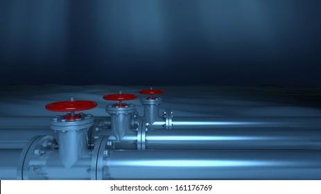 Metallic underwater pipelines