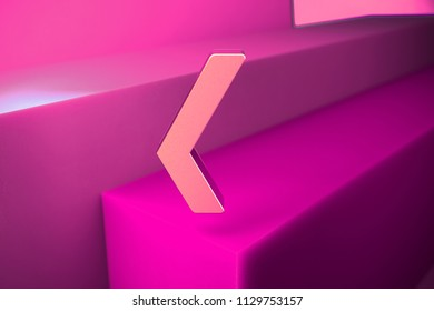 Metallic Xing Icon. 3D Illustration of Metallic Network, Square, Xing, Connection, Media Icon Set With Boxes on Magenta Background.
