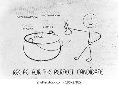 metaphor recipe of the perfect candidate for a job offer