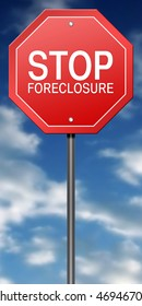 Metaphor Sign with Stop Foreclosure