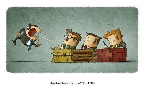 Metaphor of the story of the three little pigs in business