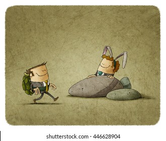 metaphor of The Tortoise and the Hare in business