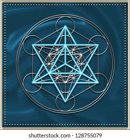 Metatron `s Cube - MERKABA - star tetrahedron - MER = light, KA = spirit, BA = body