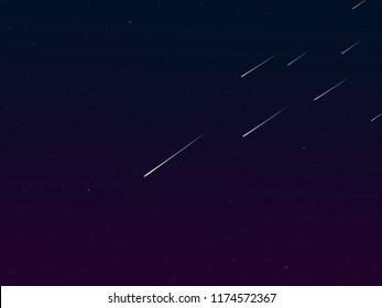 Meteor and Stars Universe  background