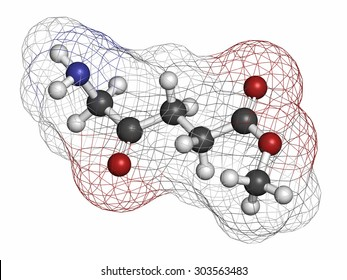 Methyl aminolevulinate non-melanoma skin cancer drug molecule. Used in photodynamic therapy. Atoms are represented as spheres with conventional color coding: hydrogen (white), carbon (grey), etc