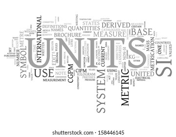 metric units concept word cloud