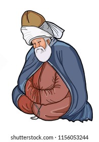 mevlevi  mevlana  illustration