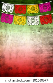 Mexican 5 / Cinco de mayo paper decoration - poster - card template