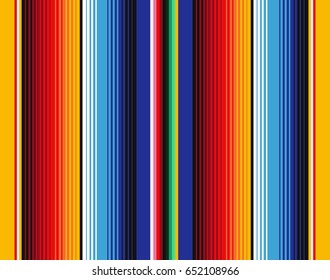 Mexican Blanket Stripes Seamless Pattern. Background for Cinco de Mayo Party Decor or Mexican Food Restaurant Menu.