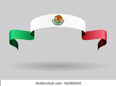 Mexican flag background. Raster version.