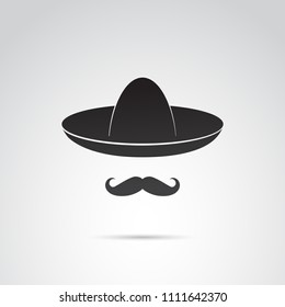 Mexican guy with mustache and sobrero.